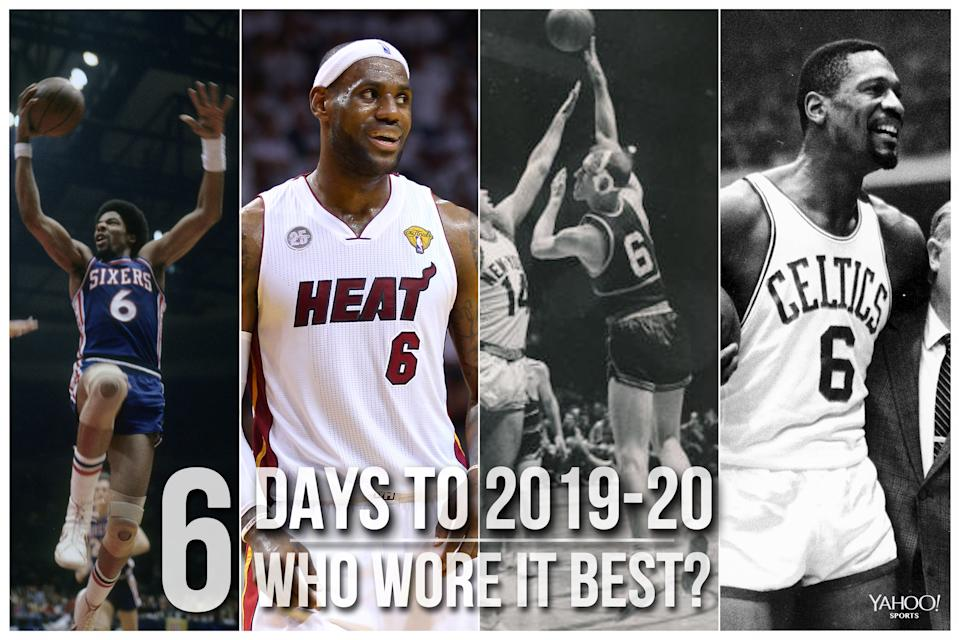 Which NBA player wore No. 6 best?
