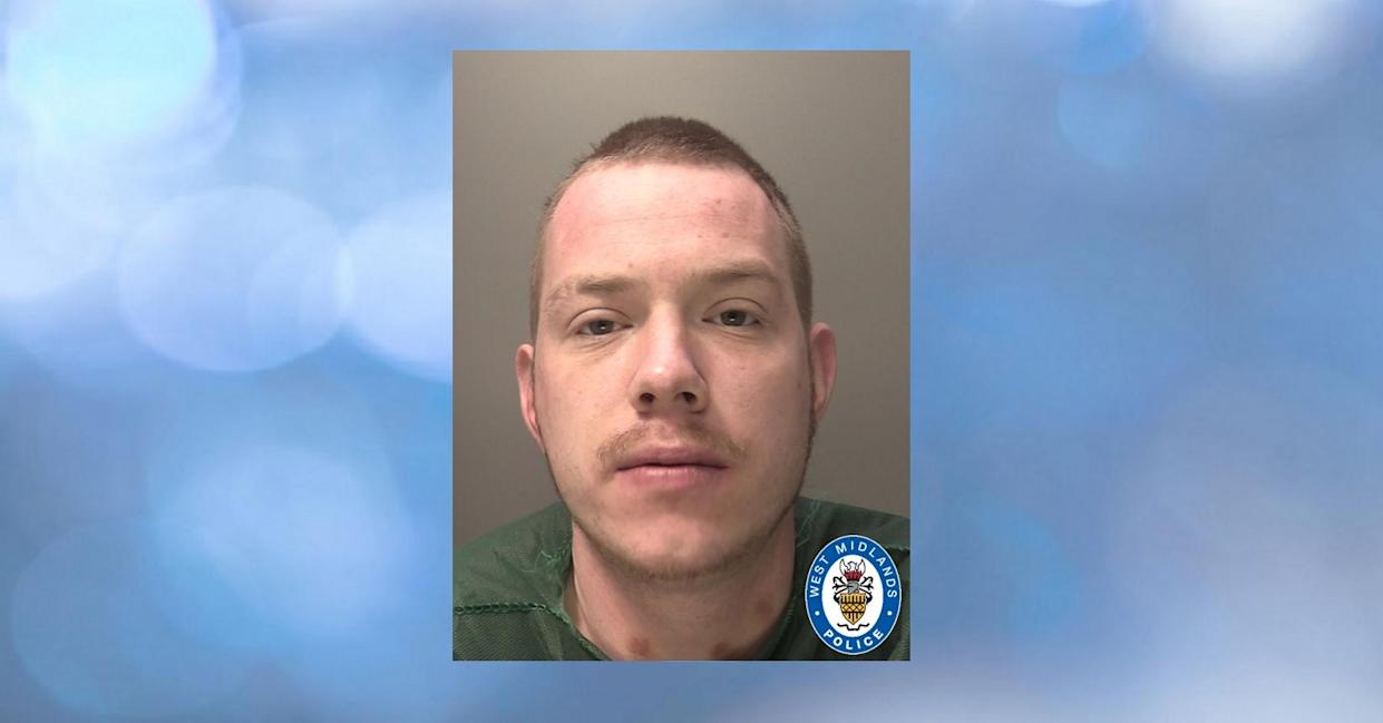 Andrew Bowering, 26, broke into the terrace house in Croft Street, Willenhall, in the early hours of 27 December last year.