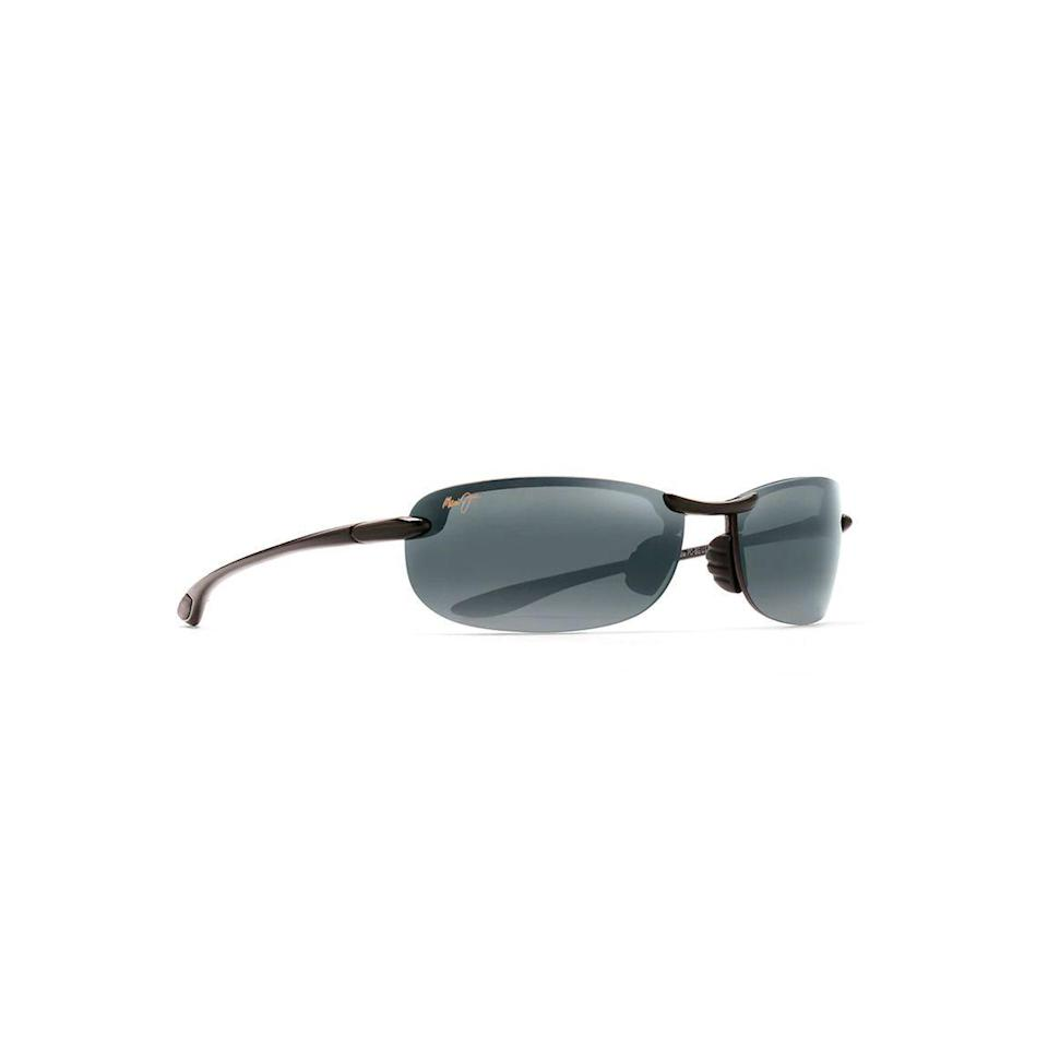 """<p><strong>Maui Jim </strong></p><p>amazon.com</p><p><strong>$199.99</strong></p><p><a href=""""https://www.amazon.com/dp/B002FU6UBG?tag=syn-yahoo-20&ascsubtag=%5Bartid%7C10055.g.20685099%5Bsrc%7Cyahoo-us"""" rel=""""nofollow noopener"""" target=""""_blank"""" data-ylk=""""slk:Shop Now"""" class=""""link rapid-noclick-resp"""">Shop Now</a></p><p>If you're looking to give him the best sunglasses for golfing, this pair will block the glare on super sunny days — and they weigh just a little more than a piece of paper so he'll barely feel them on his face.</p>"""