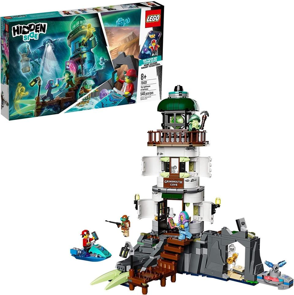 "<p>The <a href=""https://www.popsugar.com/buy/Lego-Hidden-Side-Lighthouse-Darkness-551182?p_name=Lego%20Hidden%20Side%20The%20Lighthouse%20of%20Darkness&retailer=amazon.com&pid=551182&price=50&evar1=moms%3Aus&evar9=47244751&evar98=https%3A%2F%2Fwww.popsugar.com%2Ffamily%2Fphoto-gallery%2F47244751%2Fimage%2F47244781%2FLego-Hidden-Side-Lighthouse-Darkness&list1=toys%2Clego%2Ctoy%20fair%2Ckid%20shopping%2Ckids%20toys&prop13=api&pdata=1"" class=""link rapid-noclick-resp"" rel=""nofollow noopener"" target=""_blank"" data-ylk=""slk:Lego Hidden Side The Lighthouse of Darkness"">Lego Hidden Side The Lighthouse of Darkness</a> ($50) has 540 pieces and is best suited to kids ages 8 and up.</p>"
