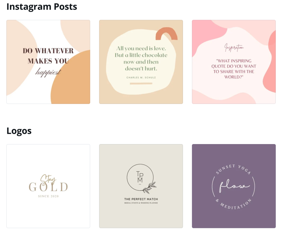 Canva templates to customise