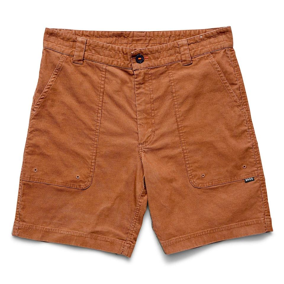 """<p><strong>Howler Brothers</strong></p><p>huckberry.com</p><p><strong>$47.98</strong></p><p><a href=""""https://go.redirectingat.com?id=74968X1596630&url=https%3A%2F%2Fhuckberry.com%2Fstore%2Fhowler-brothers%2Fcategory%2Fp%2F64750-cornerstone-corduroy-shorts&sref=https%3A%2F%2Fwww.esquire.com%2Fstyle%2Fmens-fashion%2Fg33483963%2Fhuckberry-summer-sale%2F"""" rel=""""nofollow noopener"""" target=""""_blank"""" data-ylk=""""slk:Buy"""" class=""""link rapid-noclick-resp"""">Buy</a></p><p>The easiest way to borrow some of the effortless cool of '70s surfer style. </p>"""