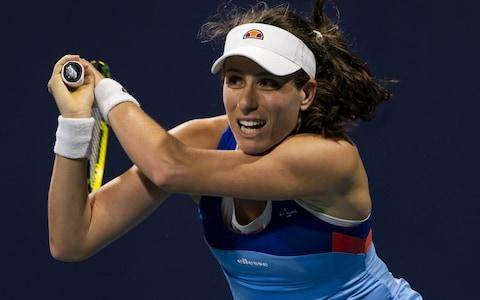 "<span><a class=""link rapid-noclick-resp"" href=""/olympics/rio-2016/a/1211274/"" data-ylk=""slk:Johanna Konta"">Johanna Konta</a> also eased past her first round opponent, Jessie Pegula</span> <span>Credit: Getty Images </span>"