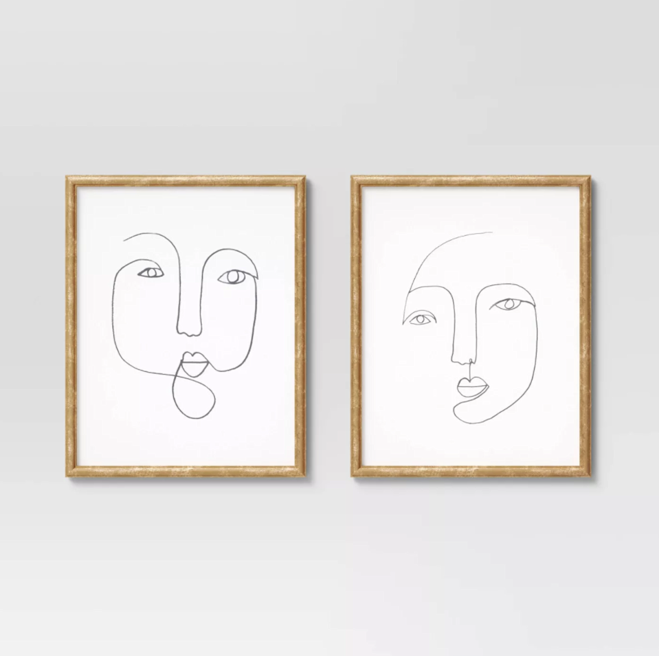 """<br><br><strong>Opalhouse</strong> Line Drawing Faces Framed Wall Art, $, available at <a href=""""https://go.skimresources.com/?id=30283X879131&url="""" rel=""""nofollow noopener"""" target=""""_blank"""" data-ylk=""""slk:Target"""" class=""""link rapid-noclick-resp"""">Target</a>"""