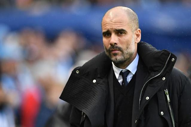 O técnico do Manchester City, Pep Guardiola