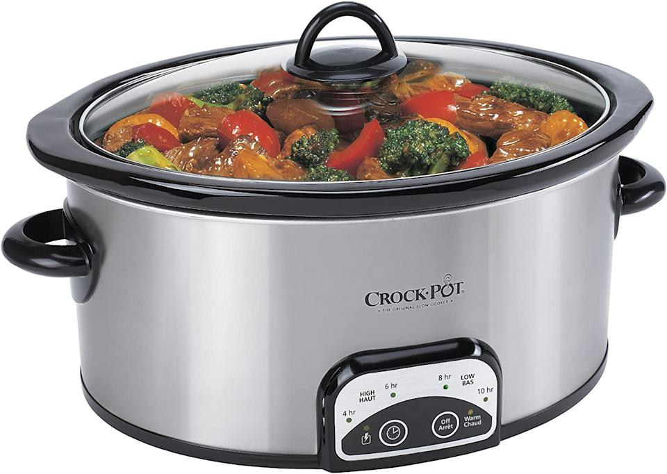 Crock-Pot Programmable 4-Qt, Oval Slow Cooker. Image via Amazon.