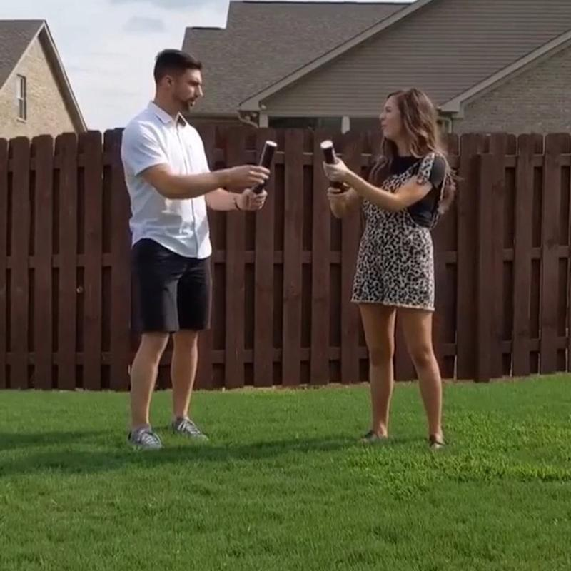 This Couple Did a Powder Cannon Gender Reveal, and We're Guessing Dad Has Regrets