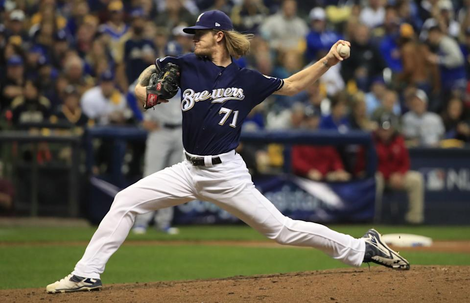 The Brewers extended ace reliever Josh Hader to three innings in NLCS Game 1. Will that impact the remainder of the series? (AP)