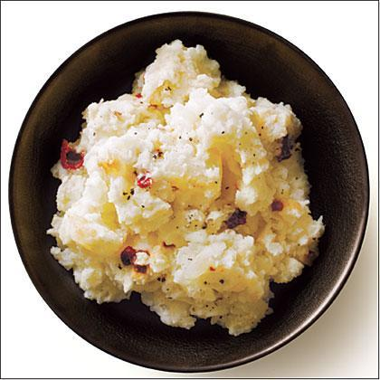 """<p>This simple twist on traditional <a href=""""https://www.myrecipes.com/course/side-dish-recipes/best-mashed-potato-recipes"""" rel=""""nofollow noopener"""" target=""""_blank"""" data-ylk=""""slk:mashed potatoes"""" class=""""link rapid-noclick-resp"""">mashed potatoes</a> is a great way to add a little heat to your steak dinner. Plain low-fat yogurt and a splash of milk ensure creaminess, while canned chipotle chile and ground cumin spice things up. </p>"""