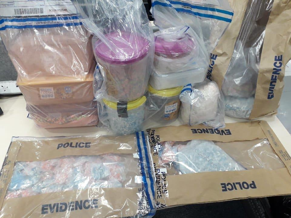 Some of the drugs police found in Patrick Scotland's flat. (Met Police)