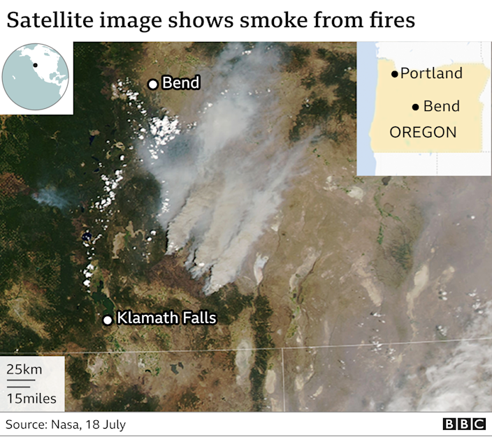 Evacuations as America's largest fire burns 364,000 acres