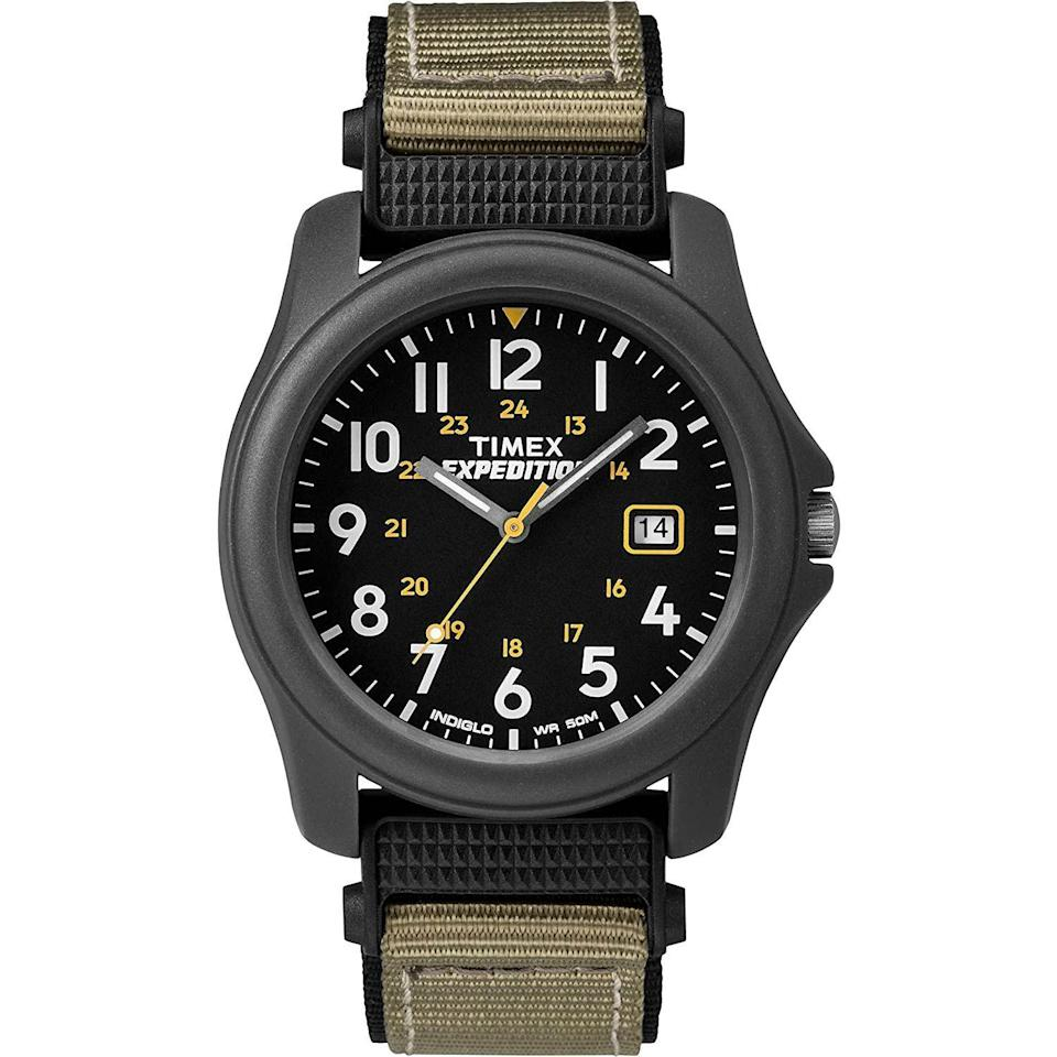 """<p><strong>Timex</strong></p><p>amazon.com</p><p><strong>$45.50</strong></p><p><a href=""""https://www.amazon.com/dp/B000SZNSVA?tag=syn-yahoo-20&ascsubtag=%5Bartid%7C10054.g.35351418%5Bsrc%7Cyahoo-us"""" rel=""""nofollow noopener"""" target=""""_blank"""" data-ylk=""""slk:Shop Now"""" class=""""link rapid-noclick-resp"""">Shop Now</a></p><p>For expert and aspiring expeditioners alike. </p>"""
