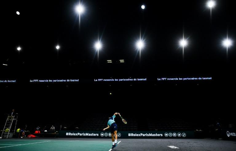 Lights on, but nobody home: The Paris Masters got underway despite France's second virus lockdown