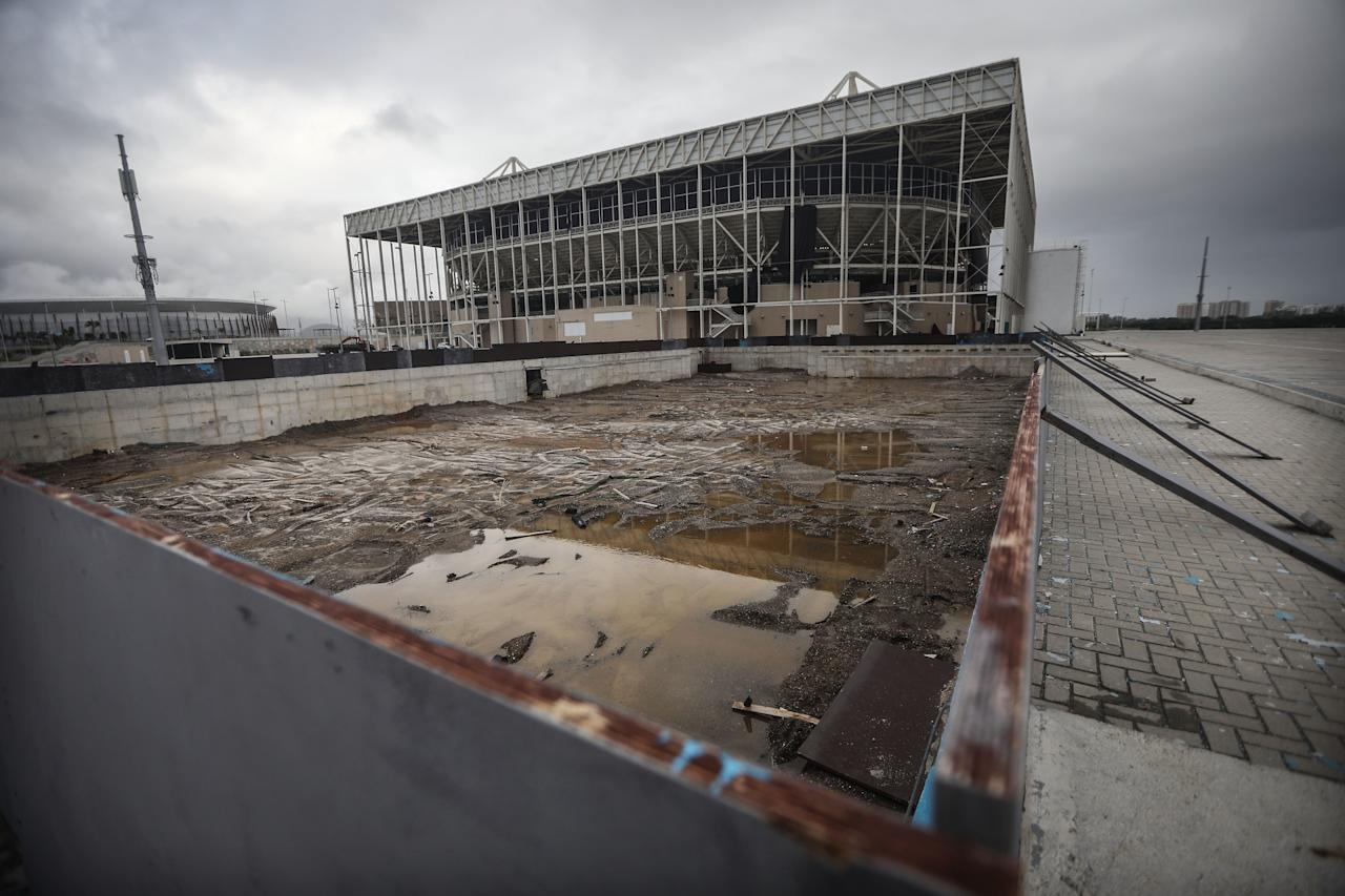 <p>Remember the green water? Now there's almost no water at all.</p>