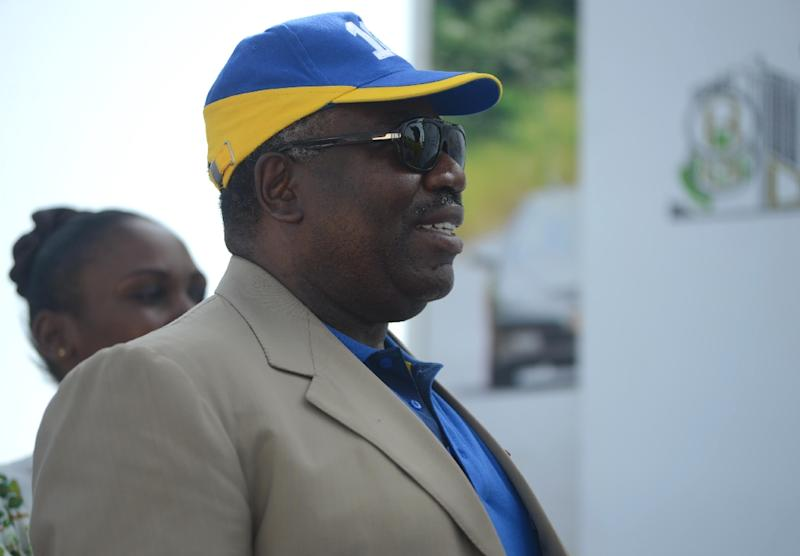 President of Gabon, Ali Bongo Ondimba, attends a cycling event in Libreville, in February 2015