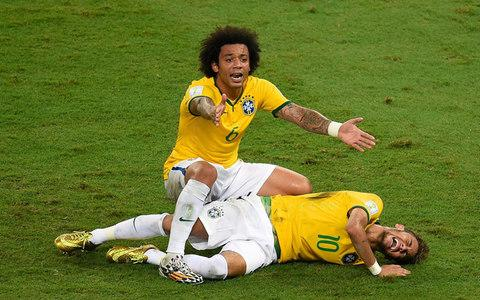 Brazil treated Neymar as if he'd been martyred rather than injured - Credit: ODD ANDERSEN/AFP