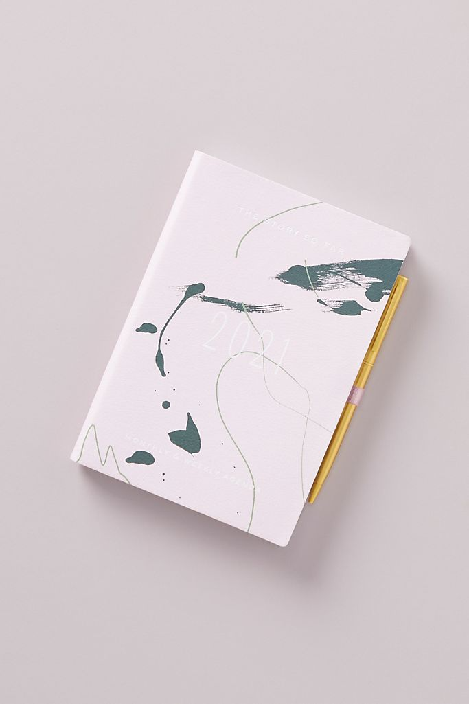 """<h3><a href=""""https://www.anthropologie.com/shop/samara-abstract-2021-planner"""" rel=""""nofollow noopener"""" target=""""_blank"""" data-ylk=""""slk:Anthropologie Samara Abstract Planner"""" class=""""link rapid-noclick-resp"""">Anthropologie Samara Abstract Planner</a></h3><br>This elegantly compact 2020 planner comes packaged with 12-months of schedule space — including monthly at-a-glance pages, date tabs, note sections, contact pages, interior storage pockets, AND a gleaming gold pen. <br><br><strong>Anthropologie</strong> Samara Abstract 2021 Planner, $, available at <a href=""""https://go.skimresources.com/?id=30283X879131&url=https%3A%2F%2Ffave.co%2F3gATsVy"""" rel=""""nofollow noopener"""" target=""""_blank"""" data-ylk=""""slk:Anthropologie"""" class=""""link rapid-noclick-resp"""">Anthropologie</a>"""
