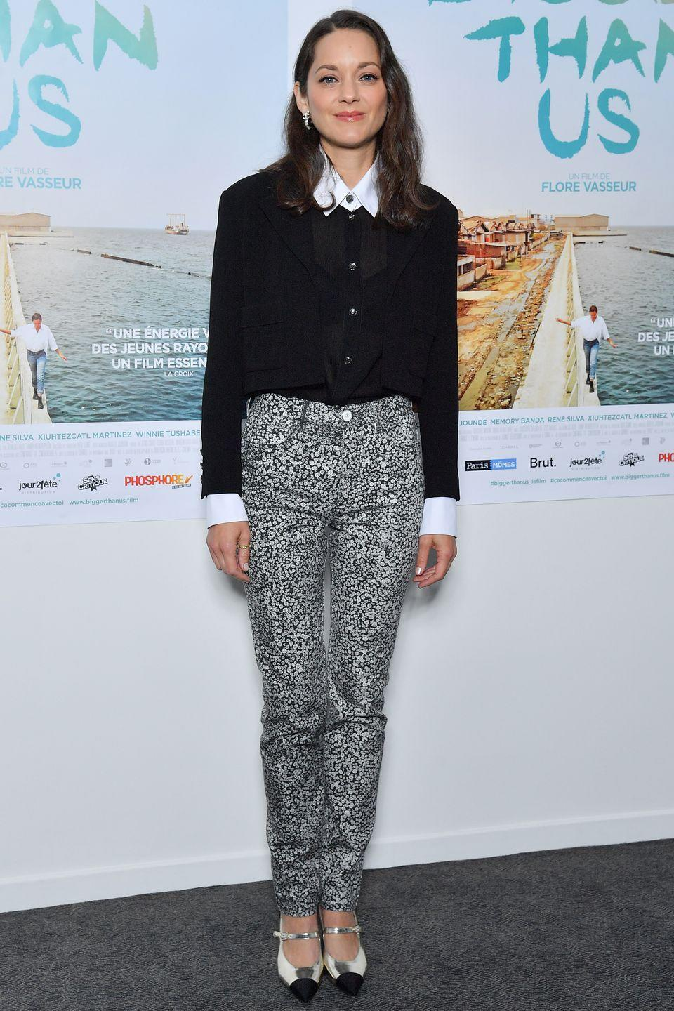 <p><strong>21 September </strong></p><p>Marion Cotillard dressed in Chanel for the Bigger Than Us premiere in Paris. </p>