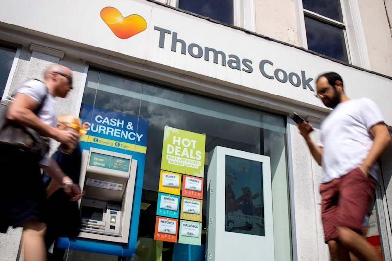 Thousands of British holidaymakers fear being stranded if Thomas Cook enters administration (AFP/Getty Images)