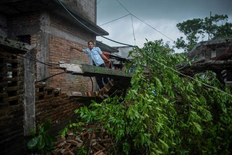 The storm toppled trees and damaged homes