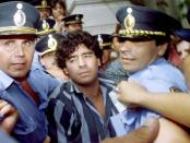 FILE PHOTO: A file photo shows Argentine soccer legend Diego Maradona