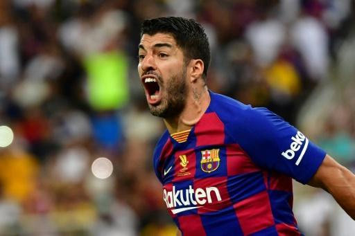 Luis Suarez played for Barcelona in the Spanish Super Cup semifinal on Thursday