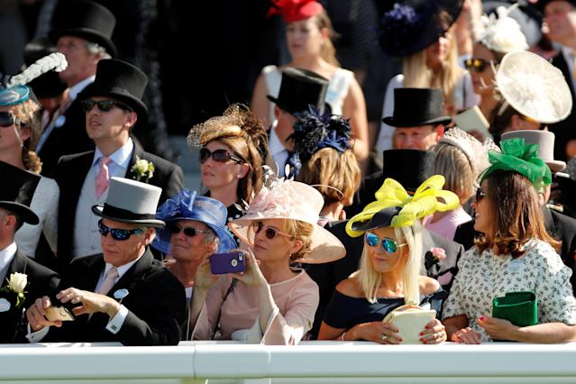 Horse Racing - Royal Ascot - Ascot Racecourse, Ascot, Britain - June 22, 2018 Racegoers at Ascot Action Images via Reuters/Andrew Boyers