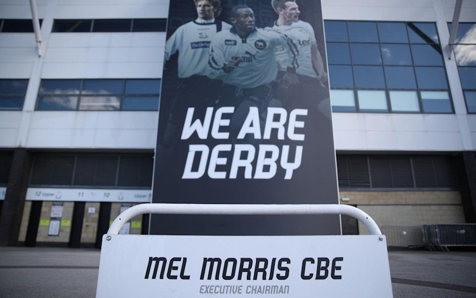 Derby have been docked 12 points and plunged to the bottom of the Championship table - ACTION IMAGES VIA REUTERS
