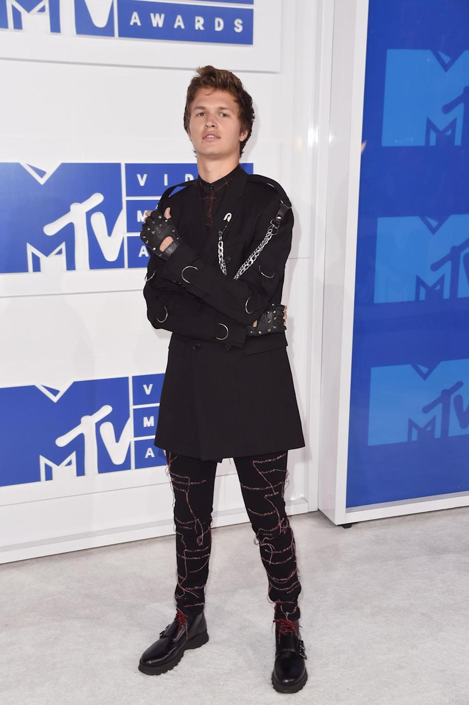 <p>The actor decided to channel Edward Scissorhands. </p><p><i>(Photo: Getty Images)</i> <br></p>