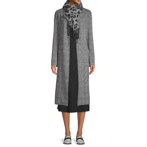 Scoop Patch Pocket Plaid Knit Duster. (Photo: Walmart)