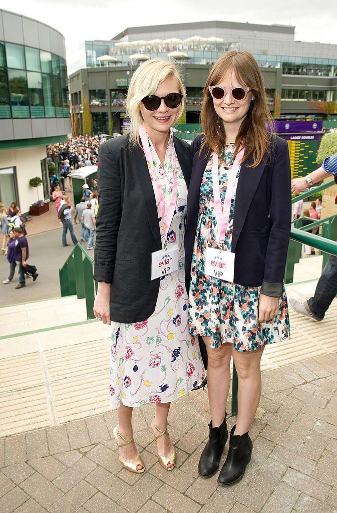 <p>The pair both wore floral dresses with blazers to the event. </p>