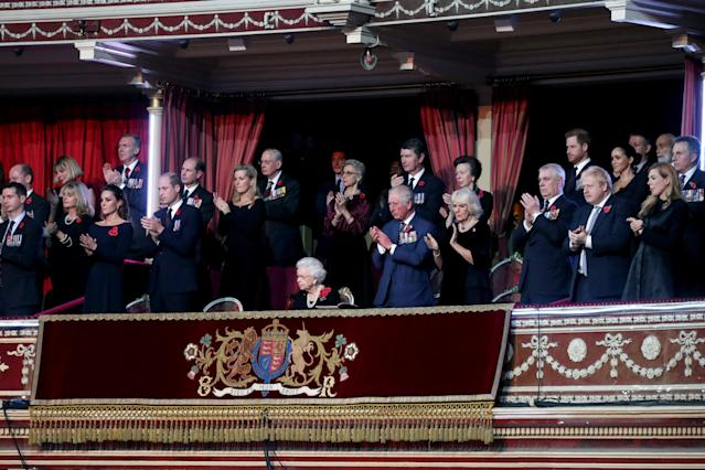The royal family attended the annual Royal British Legion Festival of Remembrance at the Royal Albert Hall in London. (Photo: Chris Jackson/- WPA Pool/Getty Images)