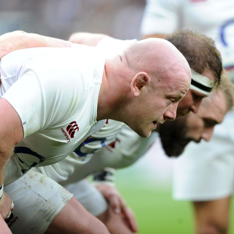 Dan Cole, Dylan Hartley and Joe Marler  - Credit: Fotosport/REX/Shutterstock