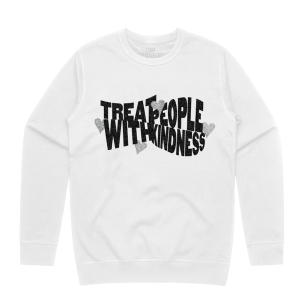 """<p><strong>Harry Styles</strong></p><p>hstyles.co.uk</p><p><strong>$55.95</strong></p><p><a href=""""https://shopus.hstyles.co.uk/products/treat-people-with-kindness-white-crewneck-sweatshirt"""" rel=""""nofollow noopener"""" target=""""_blank"""" data-ylk=""""slk:Shop Now"""" class=""""link rapid-noclick-resp"""">Shop Now</a></p><p>No one but Harry Styles enthusiasts will get this sweater, which means you can wear it in public without people being like, """"Oh...an unhinged fan walks amongst us.""""</p>"""