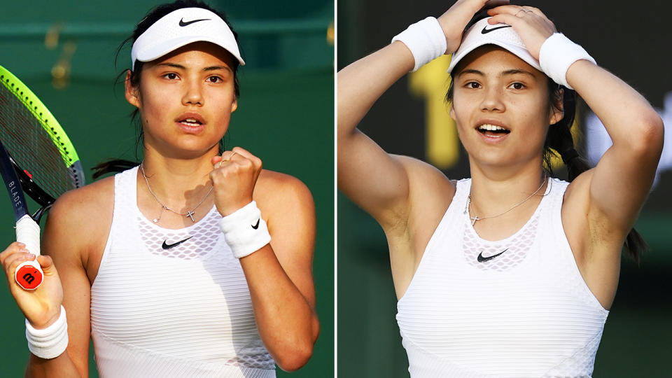 Emma Raducanu, pictured here in action at Wimbledon.