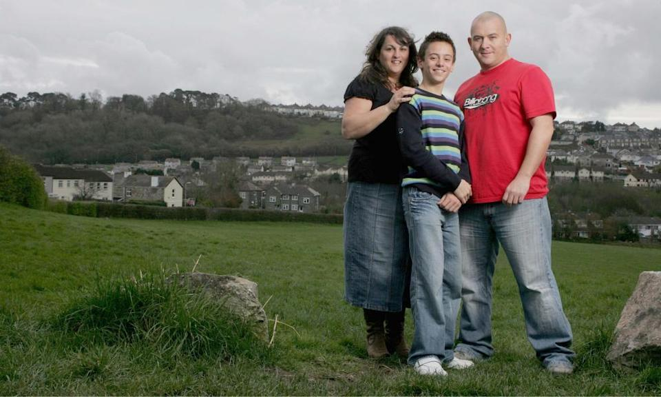 Tom Daley at home with family in Plymouth before the 2008 Olympics, his first Games.