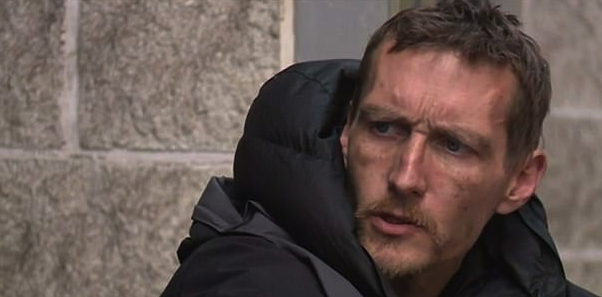 Stephen Jones was sleeping outside Manchester Arena (Picture: ITV)