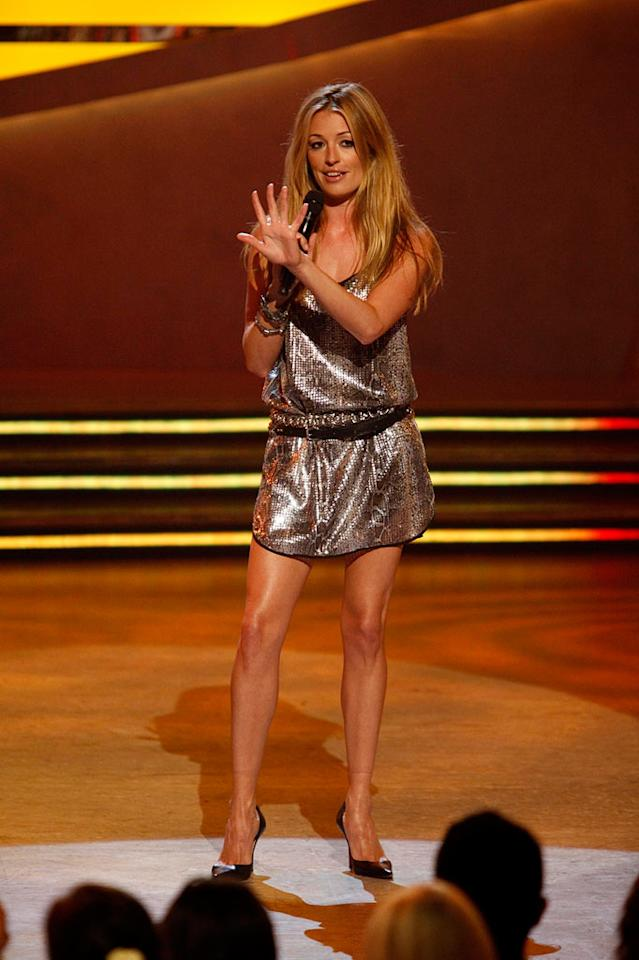 "<a href=""/cat-deeley/contributor/2212390"">Cat Deeley</a> paired a dress from Zara with a vintage Chloe belt, simple black Louboutins and bracelets by Mulberry and Lanvin when the Season 5 <a href=""/so-you-think-you-can-dance/show/36160"">""So You Think You Can Dance""</a> contestant pool was narrowed from 14 to 12."
