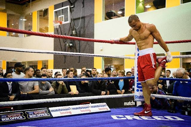 Chris Eubank Jr attends an open media workout in Canary Wharf, London, in 2015 (AFP Photo/LEON NEAL, LEON NEAL)