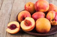 <p>Stone fruits, such as peaches, plums and apricots, shouldn't just be thrown in the fridge. You want the inside of your fruit to stay plump and juicy, and the inside of your fridge can dehydrate the skin and flesh of the fruit. Instead, store your stone fruit at room temperature on your kitchen counter. If you bought fruit that are underripe, there's a trick to make them ripen faster: Place the fruit in a brown paper bag. Adding a banana to the bag will accelerate the process even further.</p>