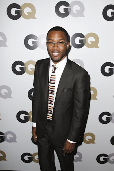 "FILE - In this Nov. 17, 2011 file photo, Frank Ocean arrives at the 16th annual GQ ""Men of the Year"" party in Los Angeles. There has been a small shift with homophobia's standing in hip-hop, and that's partially thanks to Frank Ocean, who revealed on his blog in July 2012 that his first love was a man. (AP Photo/Matt Sayles, File)"