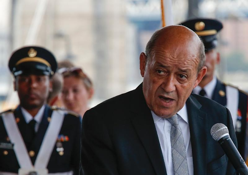 French Defence Minister Jean-Yves Le Drian, shown in a file picture, began a two-day visit to Cairo