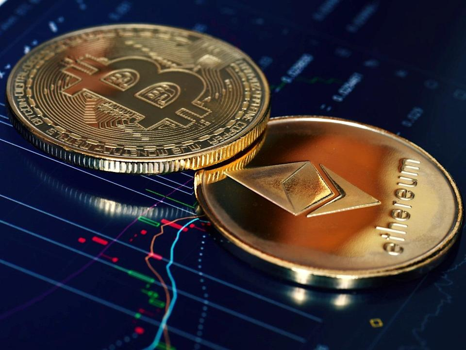 Ethereum has experienced greater price gains in 2021 than bitcoin (Getty Images)
