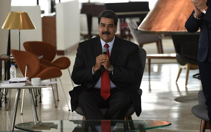 Nicolas Maduro, Venezuela's president, speaks during the reopening event of the Humboldt Hotel  - Bloomberg