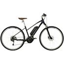 """<p><a class=""""link rapid-noclick-resp"""" href=""""https://www.cyclerepublic.com/carrera-crossfuse-womens-hybrid-electric-bike-2020.html"""" rel=""""nofollow noopener"""" target=""""_blank"""" data-ylk=""""slk:SHOP NOW"""">SHOP NOW</a></p><p><strong>Price: </strong>£1,699 (was £1,800)</p><p>So, this bike is over budget – but, unfortunately, if you want the power and ease of an e-bike then you'll need to pay more than you would for a standard manual bike. If you are looking to invest, then this Carrera e-bike packs in loads of features and power – it has an impressive 80 mile range in its Bosch Powerpack 400wh battery, as well as a lightweight aluminium frame and 9 speed Shimano Alivo gearing. </p><p><strong>Gears: </strong>9 </p><p><strong>Frame: </strong>Lightweight Aluminium frame</p><p><strong>Recharge time: </strong>3-4 hours </p><p><strong>Weight: </strong>23.9kg </p>"""