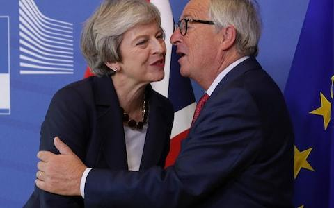 European Commission President Jean-Claude Juncker and British Prime Minister Theresa May - Credit: Getty