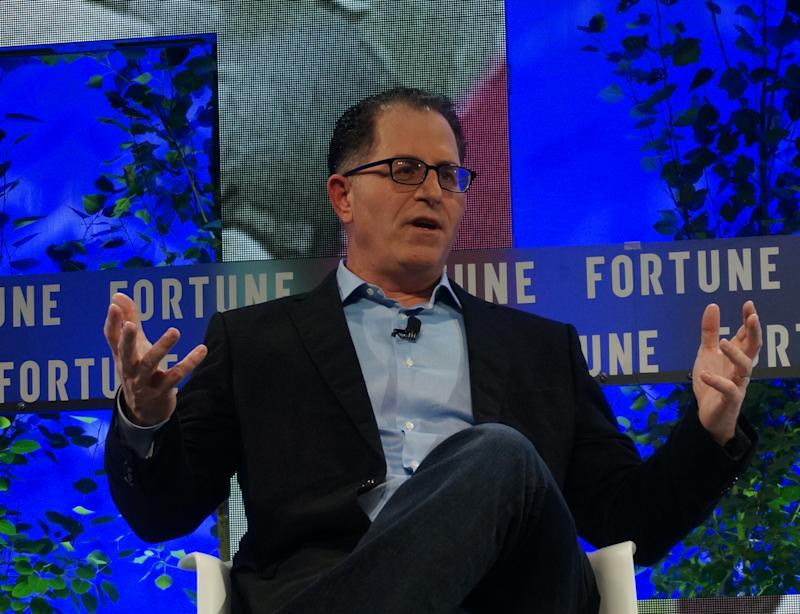 Michael Dell, CEO of Dell Technologies, speaks at the Fortune Brainstorm Tech conference in Aspen, Colorado on July 17,2017. | Robert Lever—AFP/Getty Images.