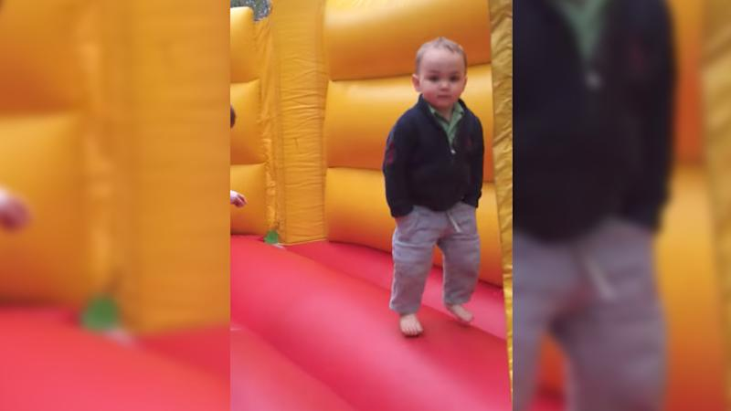 You will never be as cool as this toddler. Video still from YouTube