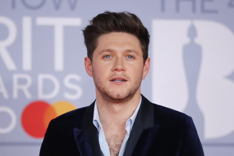 IIrish singer-songwriter Niall Horan poses on the red carpet on arrival for the BRIT Awards 2020 in London on February 18, 2020. (Photo by Tolga Akmen / AFP via Getty Images)