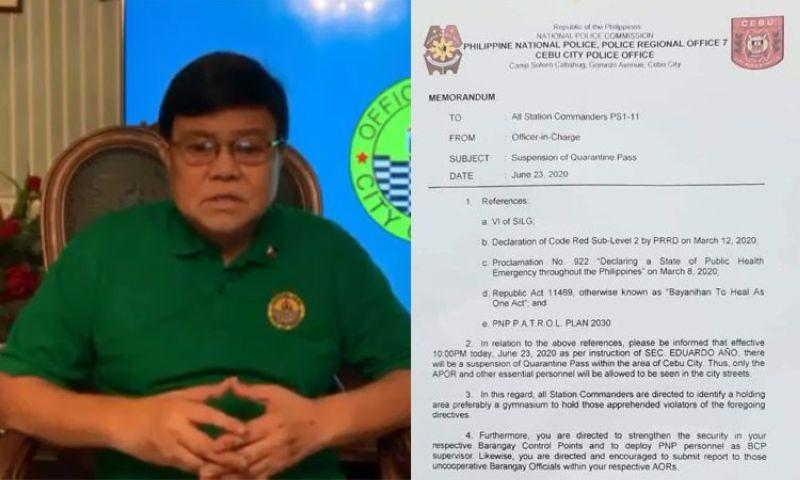 EXPLAINER: Police, mayor's statements on cancellation of CQ passes didn't tell what Cebu public needed to know at once.